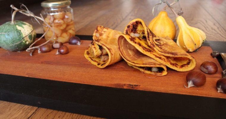 Тиквени палачинки със сладко от кестени