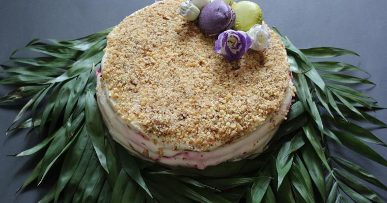 Френска селска торта със сладко от череши