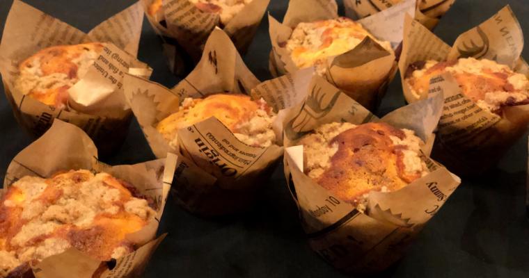 Тиквени мъфини с пълнеж от крема сирене