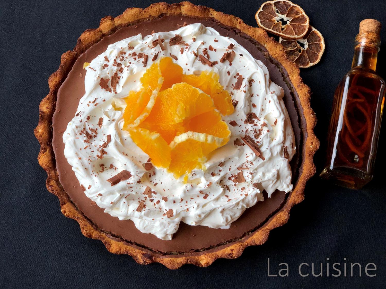 Шоколадов тарт с портокал [веган]